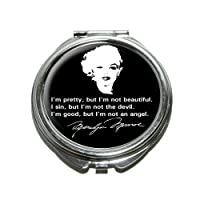 Marilyn Monroe Quote - I'm pretty, but I'm not beautiful. I sin, but I'm not the devil. i'm good, but i'm not an angel Compact Purse Mirror from Graphics and More