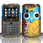 Samsung S390g Case (Straight Talk / Net 10 / Tracfone) Radiant Owl Design Yellow Hard Cover Protector with Free Car Charger + Gift Box By Tech Accessories