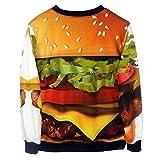 Voglee Autumn Winter Women's Fashion Pullover Sweatshirts Hamburger Sweaters