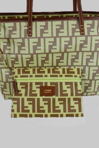 Fendi Handbags Brown-Yellow Zucchino Nylon 8BH198