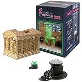 Hydor H2Show Ornament Kit, Greek Temple, Green LED