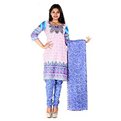 RangoliSF Woman's Cotton Unstitched Dress Material (RSFT1016 Pink)