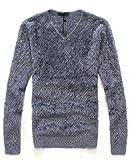 Heaven Days(ヘブンデイズ) セーター ニット シャギー Vネック シンプル 長袖 メンズ 1611G0723