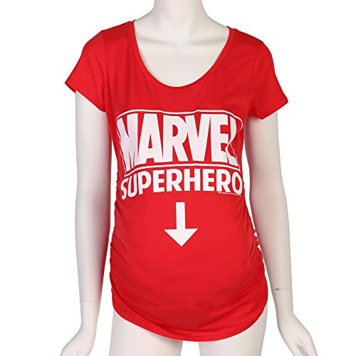 Marvel Comics Future Superhero Maternity T-Shirt - Red (XX-Large) (Marvel Womens Clothes compare prices)