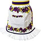 Oh Gussie Adult Pansy Half Apron