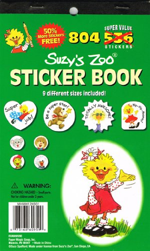 Eureka Suzy's Zoo Sticker Book - 1