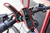 ChargerCity Strap Lock 360° Rotate Adjustment Mountain Bike Bicycle Mount for Garmin Colorado 300 400 Dakota 10 20 eTrx 10 20 30 GPSMAP 62 64 Oregon 200 300 400 450 500 550 600 650 Rino 610 650 655 GPS