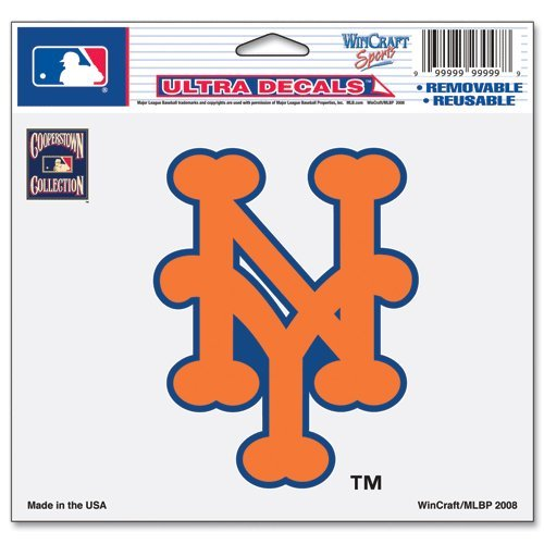 MLB New York Mets 58551081 Multi-Use Colored Decal, 5