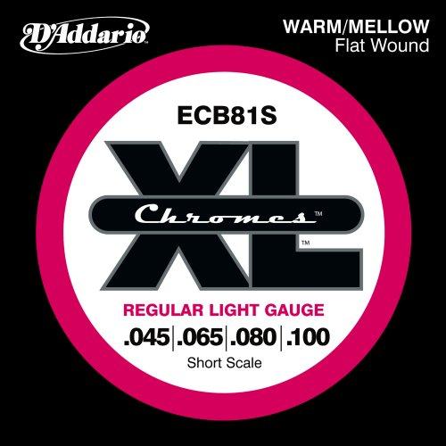 D'Addario ECB81S Chromes Bass Guitar Strings,
