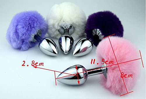 Sexbaby Small Size Butt Plug Stainless Steel Metal Butt Plug Sexual Anus Rabbit's Tail Anal Sex Toys for Women Fun Sex Games from Sexbaby