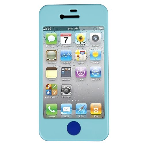 Doublju Simple Color Plastic Rear Cover for Apple iPhone 4/4S SKY NONE