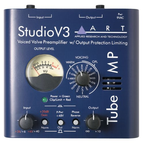 Art Studio V3 Voiced Valve Preamplifier With Output Protection Limiting Level And Phantom Power