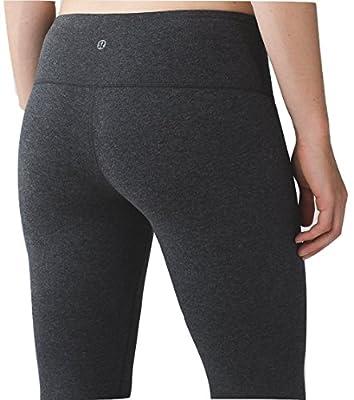 Lululemon Wunder Under Crop III Cotton Yoga Pants Heathered Black