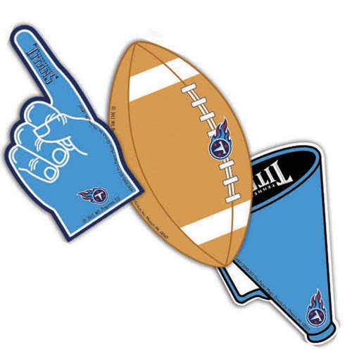 Eureka NFL Tennessee Titans Assorted Paper Cut-Outs