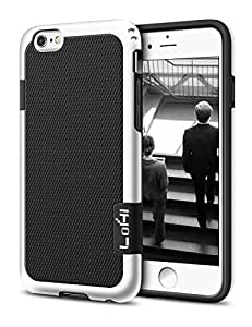 iPhone 6 Plus Case, LoHi(TM) Hybrid Impact 3 Color Shockproof Rugged Case Soft TPU & Hard PC Bumper [Extra Front Raised Lip] Back Strips Anti-slip [Protective Buffer] for iPhone 6 Plus 5.5 Inch Black
