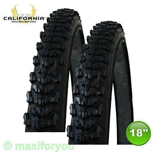 2 x California MTB Fahrradmantel Reifen Decke 18 x 1.75 - 47-355 - 01021803