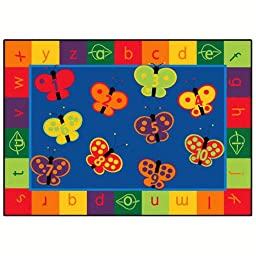 Literacy 123 ABC Butterfly Fun Kids Rug Rug Size: 5\'5\