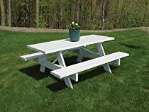 Hot Sale Dura-Trel Traditional White Picnic Table