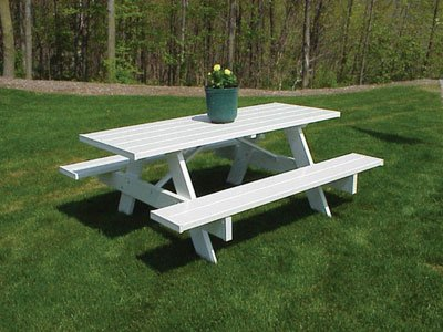 White Resin Picnic Table