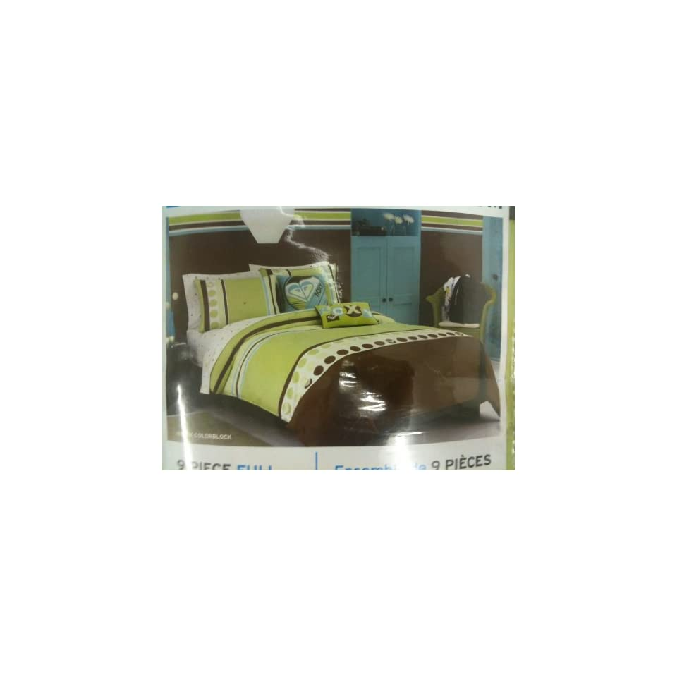 Bed Bug Roxy Room Bedding Set Kelly Colorblock Full Size Bed in a Bag