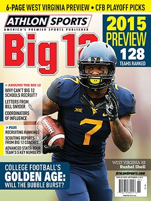 Athlon Sports 2015 College Football Big 12 Preview Magazine- West Virginia Mountaineers Cover