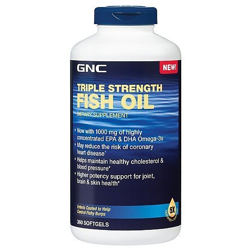 GNC Triple Strength Fish Oil New Formula 1000 360 softgels (Triple Strength Fish Oil 1500 compare prices)