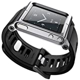 Ocr TM Cool Alumium Watch Band Wrist Strip for iPod Nano 6G Cover Case (Silver) (Color: Silver)