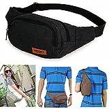 Kalevel Outdoor Sports Backpack Casual One Shoulder Sling Bag Canvas Backpack Hiking Waist Bag Cross Over Shoulder Bags Chest Crossbody Bag Shoulder Bag for Women Men Teens Girls Boys Kids (Black)