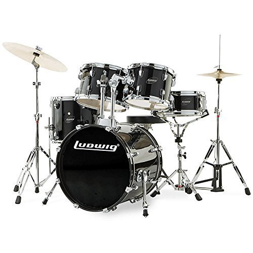 ludwig-accent-drive-black-5-piece-drum-set-includes-hardware-throne-pedal-cymbals-sticks-and-drum-ke