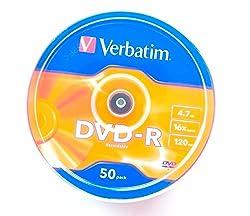 Verbatim Premium DVD-R 4.7GB 16X 50PK Spindle Made in Japan