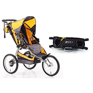 Buy BOB Ironman Jogging Stroller with Fixed Wheel and Handlebar Console, Yellow by BOB
