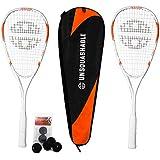 Unsquashable 2x PowerPro Squashschläger inkl. Squashtasche & Squashball
