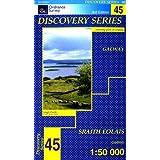 Ordnance Survey Ireland Blatt 45, Galway, Oughterard, Cois Fharraige, Lough Corrib, Irland Westküste topographische...