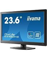 Iiyama E2480HS-B1 Ecran PC sans tuner LED 24'' 1920 x 1080 Noir