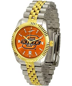 Oklahoma State University Mens Stainless Steel Alumni Dress Watch by SunTime
