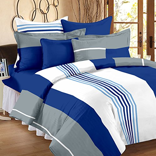 Ahmedabad-Cotton-Basics-136-TC-Cotton-Double-Bedsheet-with-2-Pillow-Covers-Multicolour