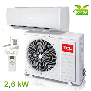 tcl inverter klimager t 2 6 kw 9000 btu a a split klimaanlage klima anlage heizung. Black Bedroom Furniture Sets. Home Design Ideas