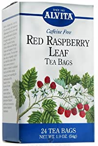 Alvita Red Raspberry Leaf Caffeine Free - 24 Tea Bags, 8 pack