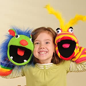 Colorful Sockette Puppets for all ages from ConstructivePlaythings
