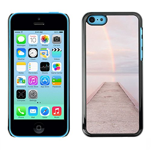 For Apple iPhone 5C Case , Beach Dock Jetty Water - Colorful Pattern Hard Back Snap-On Cover Case Skin Mobile Phone Shell Bumper