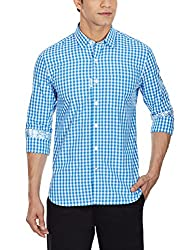 Punctuate Men's Casual Shirt (0666995110966_PNS161271_large_Indigo)