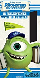 Paper Magic Monster University Valentines with Bonus Pencils (16 Count)