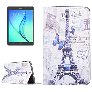Crazy4Gadget Tower Pattern Horizontal Flip Leather Case with Holder & Card Slots for Samsung Galaxy Tab E 8.0 / T377 / T375