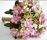 桜の雪 ウェディングブーケ ブライダルフラワーに 清楚で かわいい バラの 造花の ブーケ (ピンク)