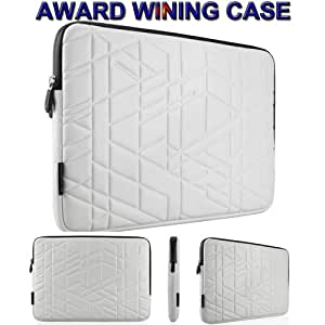 Award Winning Wardmaster Patent Protective Sleeve Case for MacBook Air MacBook Pro 11 and 13 (15.4, White)