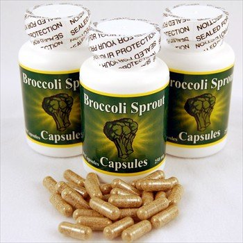 3 Bottles of Broccoli Sprout Capsules w/