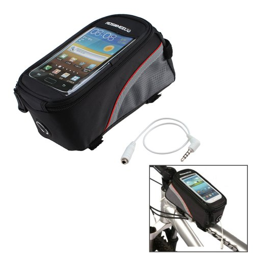 Purchase ROSWHEEL Cycling Bike Bicycle Frame Pannier Front Tube Bag With Headphone Jack For 5.5inch ...