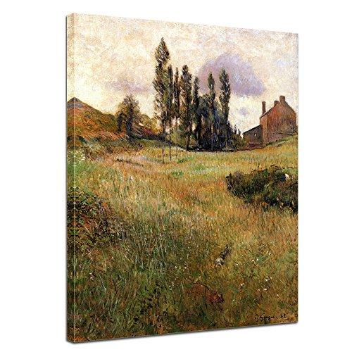 """Bilderdepot24 Leinwandbild Paul Gauguin - Alte Meister """"Hunde auf einer Wiese"""" 50x70cm - fertig gerahmt, direkt vom Hersteller"""