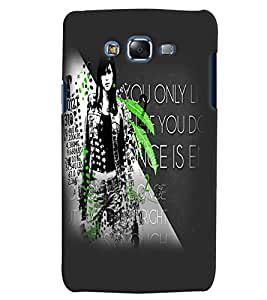 Fuson Trendy Girl Back Case Cover for SAMSUNG GALAXY J7 - D4091