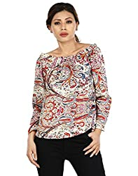 IndZone Women Off Shoulder Top(1619 - S_Multicoloured_Small)